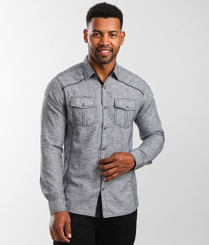 BKE Marled Standard Stretch Shirt front view