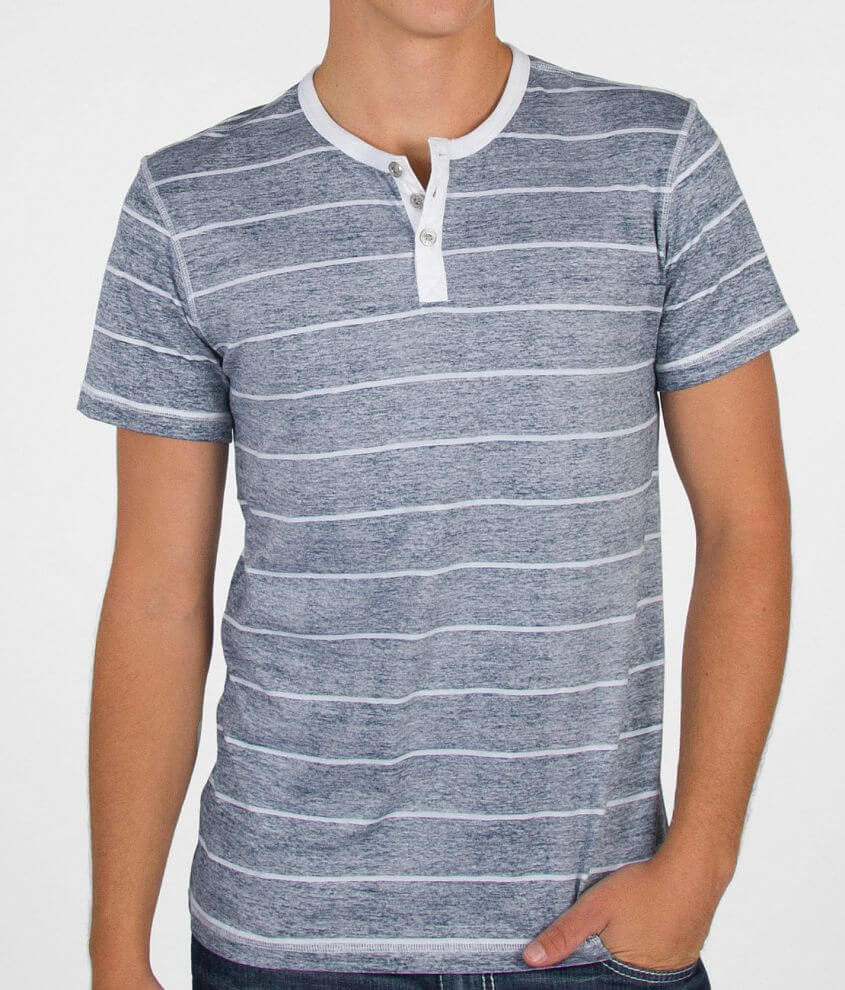 BKE Striped Henley Shirt front view