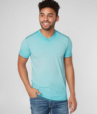 BKE Oil Wash V-Neck Stretch T-Shirt