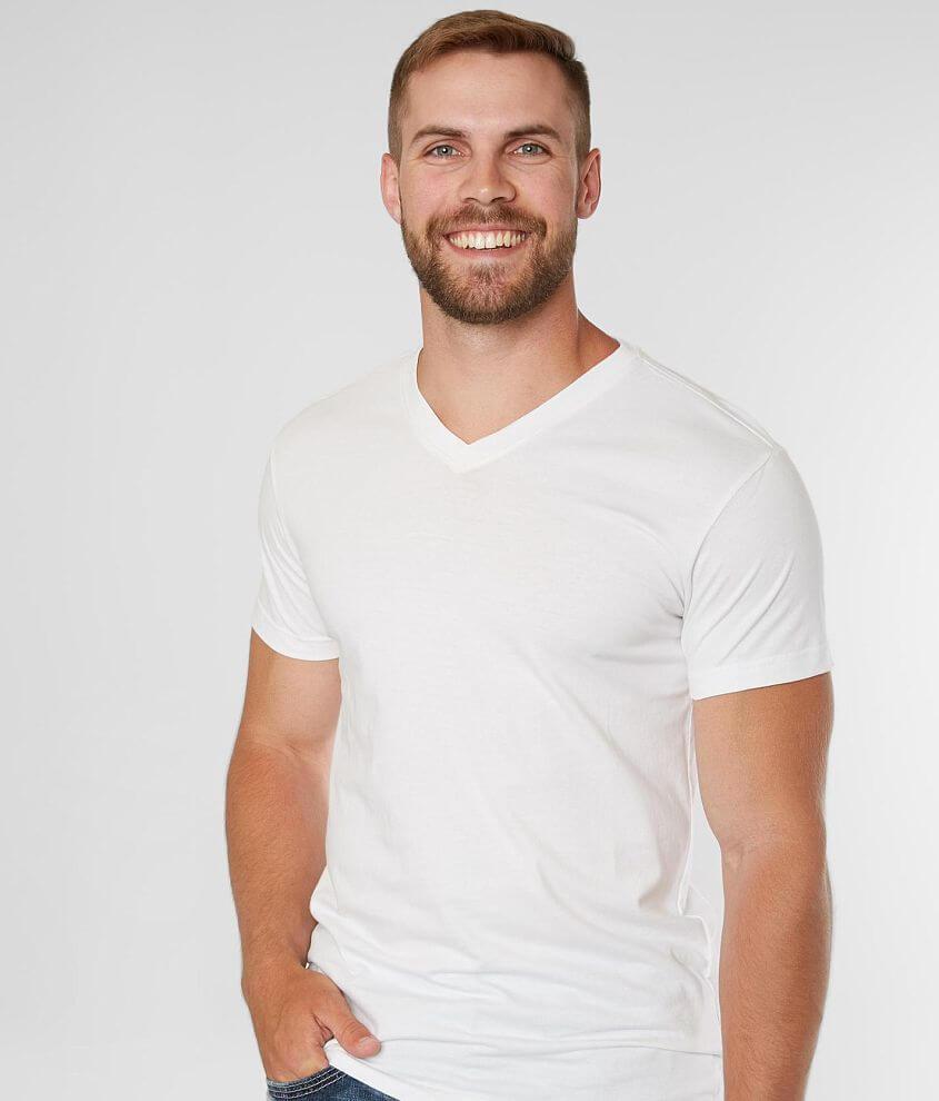 BKE Basic Extended V-Neck T-Shirt front view