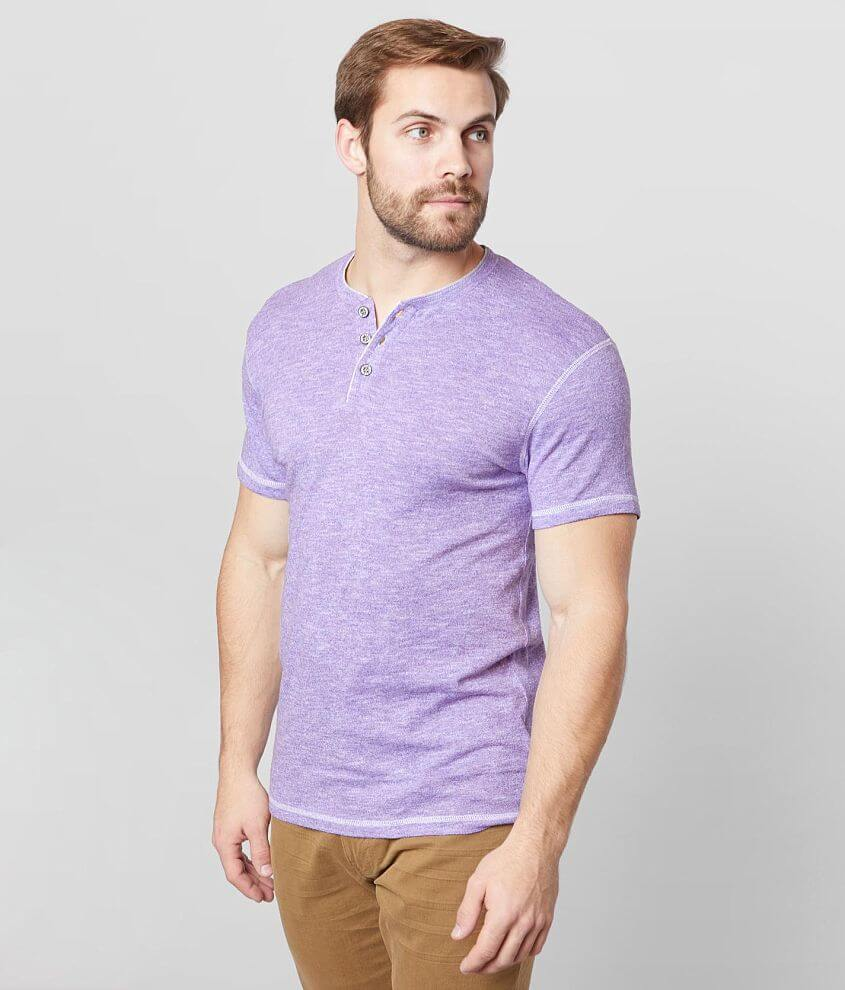 BKE Heathered Henley front view