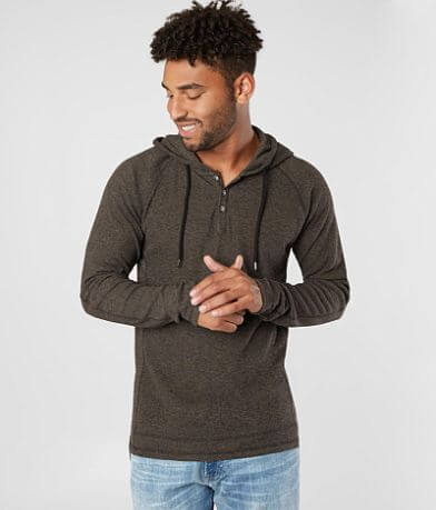 BKE Grindle Yarn Thermal Henley Hoodie