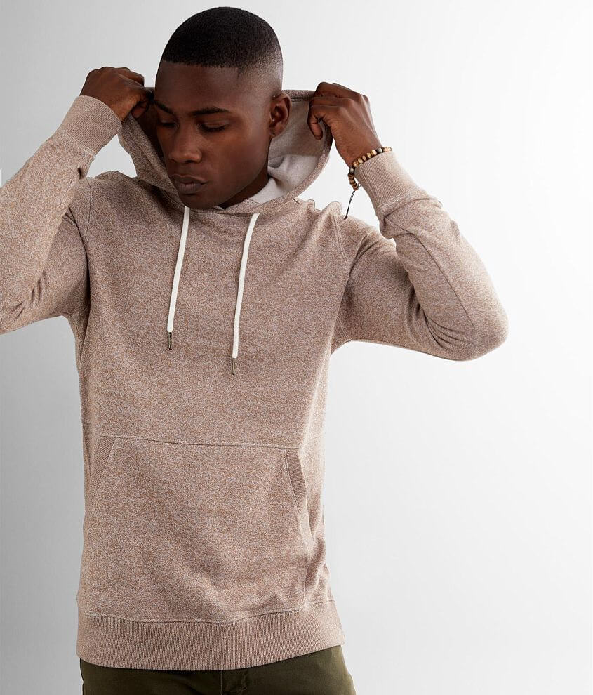 BKE Heathered Knit Hooded Sweatshirt front view