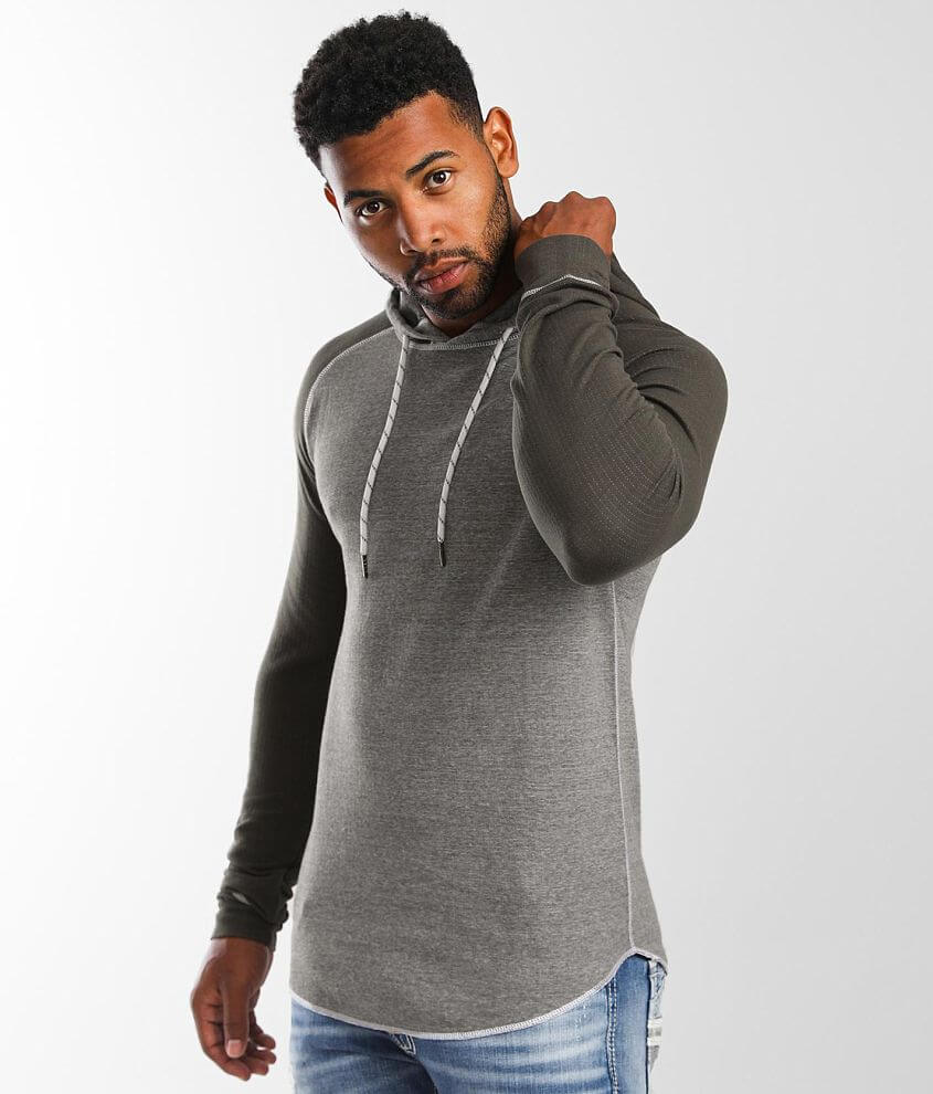 BKE Marled Knit Hoodie front view