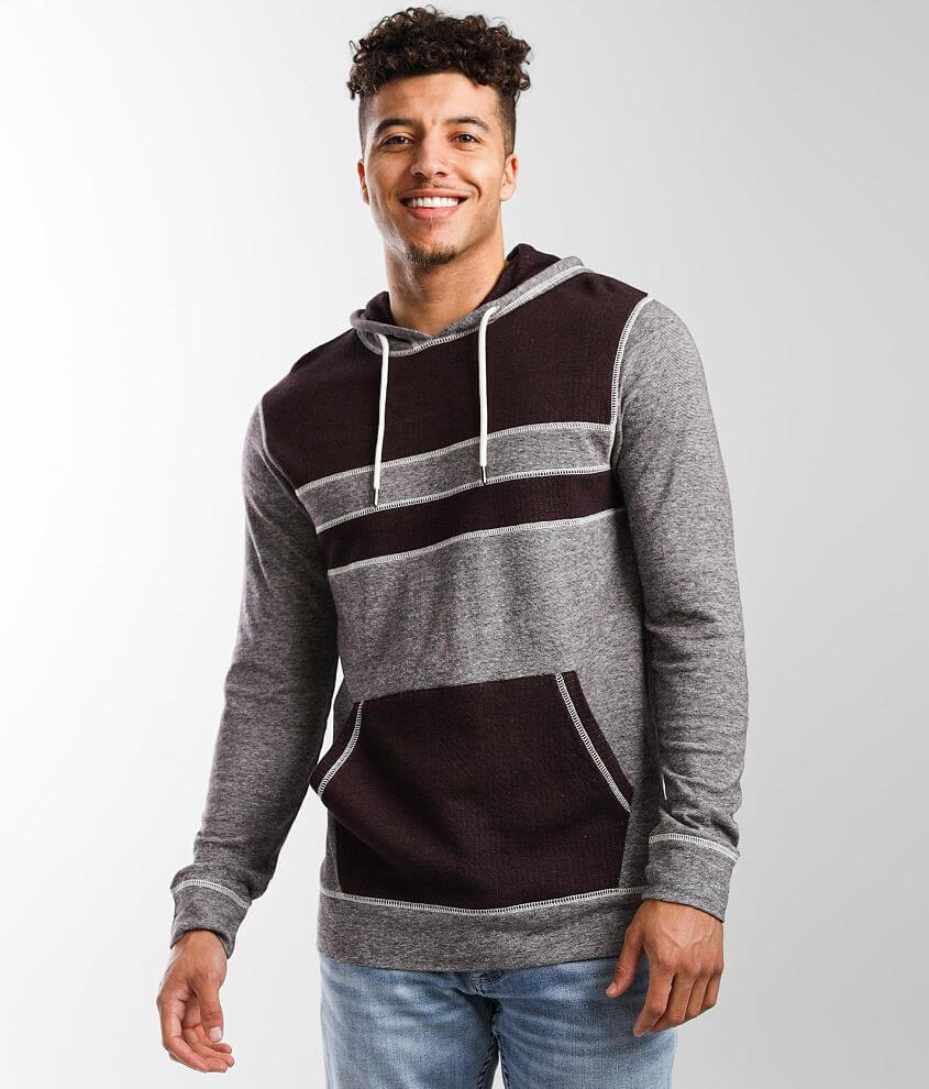 BKE Marled Contrast Stitch Hoodie front view