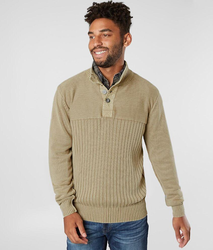 BKE Mountain Henley Sweater front view