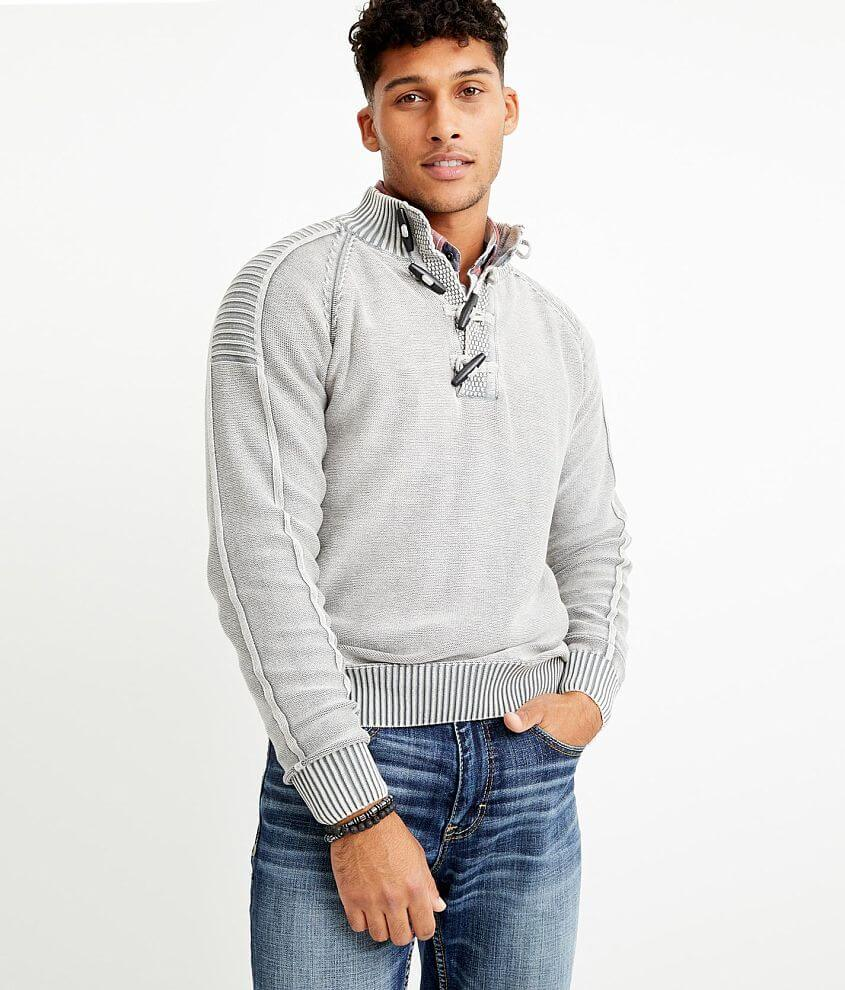 BKE Phillips Toggle Mock Neck Sweater front view