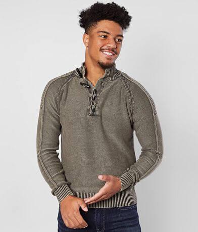 BKE Phillips Toggle Mock Neck Sweater