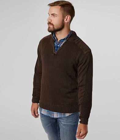 BKE Bowers Quarter Zip Sweater