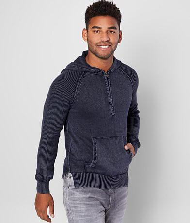 BKE Michaels Hooded Half Zip Sweater