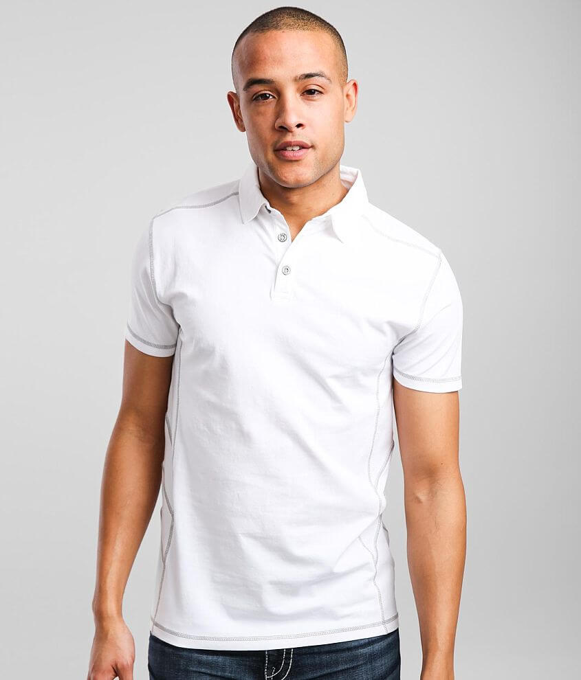 BKE Knit Stretch Polo front view