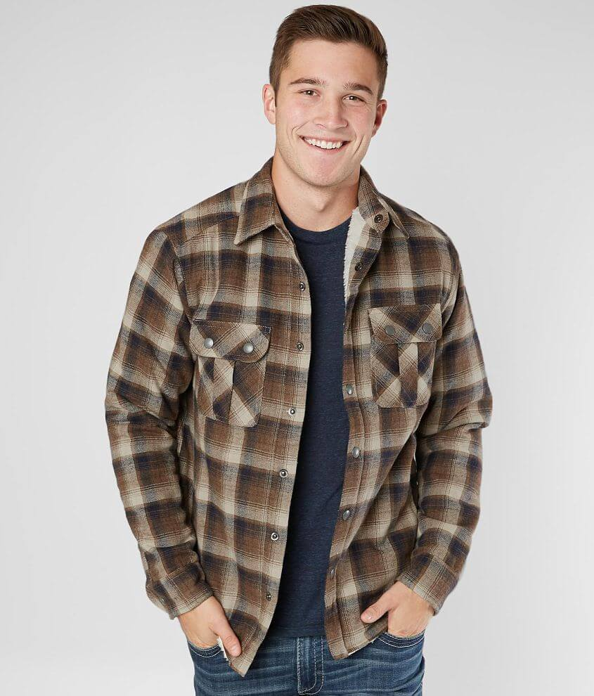 BKE Flannel Shirt Jacket front view