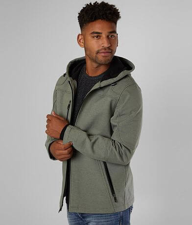 BKE Marled Softshell Hooded Jacket