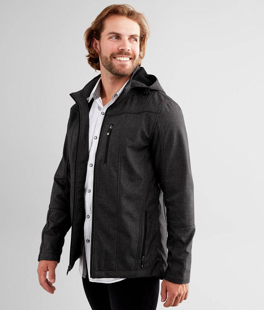 BKE Softshell Hooded Jacket front view