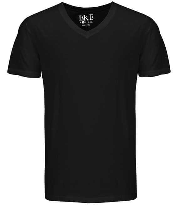 BKE Solid V-Neck T-Shirt - Men's T-Shirts in Black | Buckle