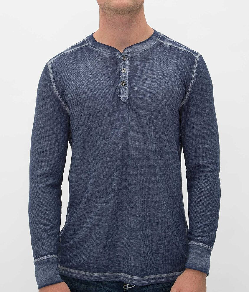 Buckle Black Tony Thermal Henley front view