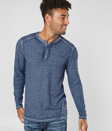 Buckle Black Crosshatch Thermal Henley