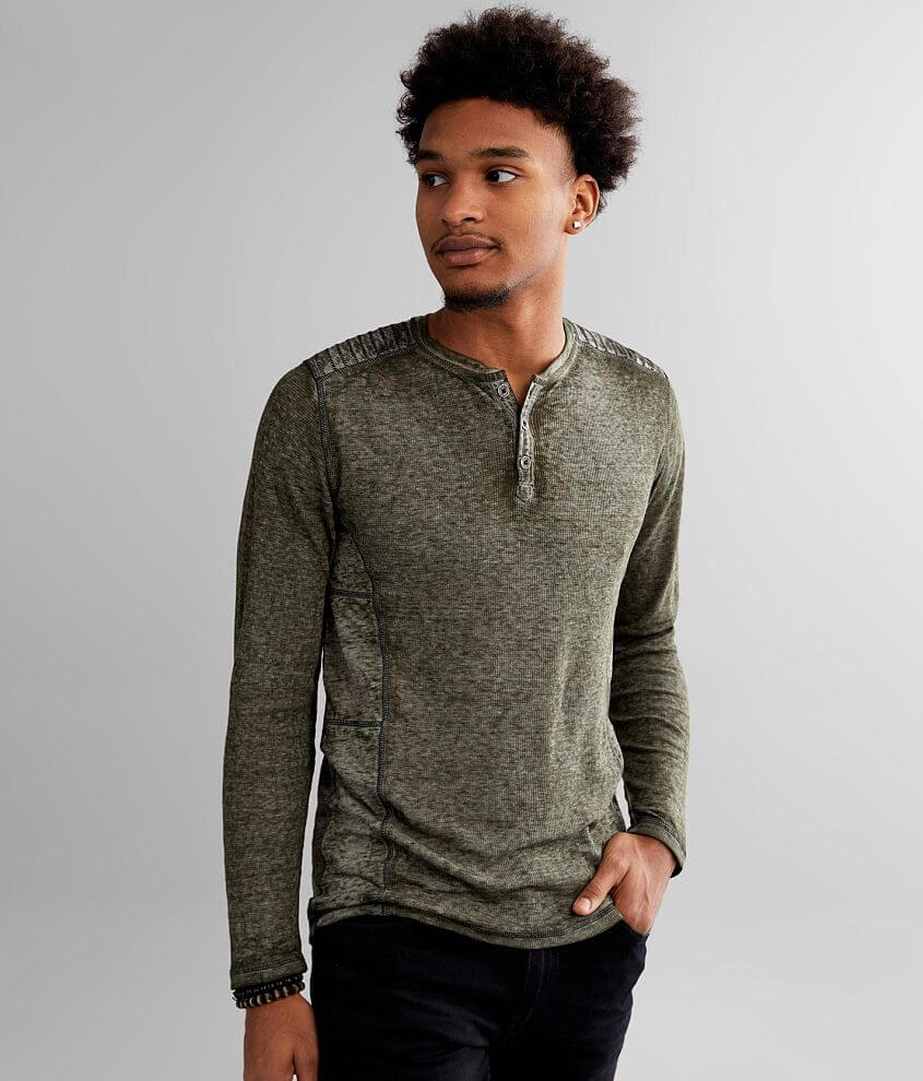Buckle Black Thomas Thermal Henley front view