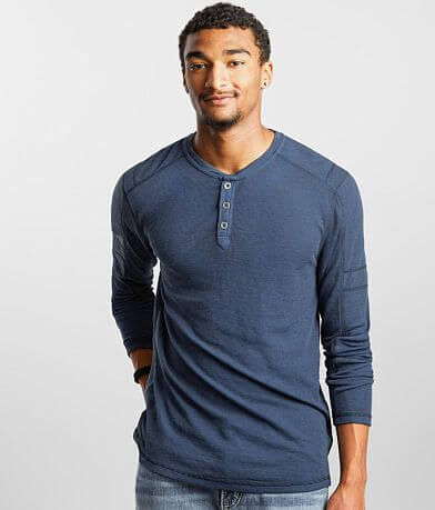 Buckle Black Washed Thermal Henley