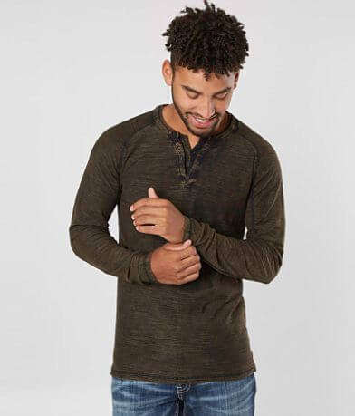 Buckle Black Double Layer Henley