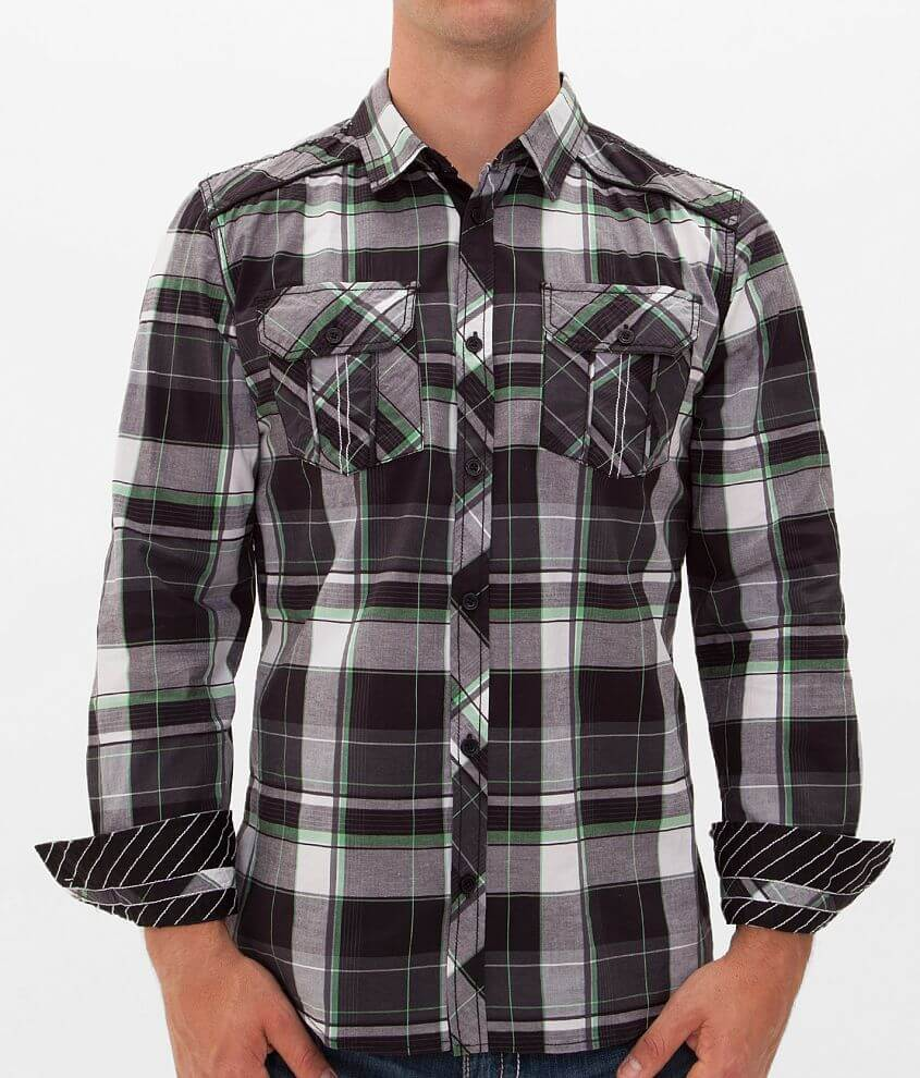 Buckle Black All Around Stretch Shirt front view
