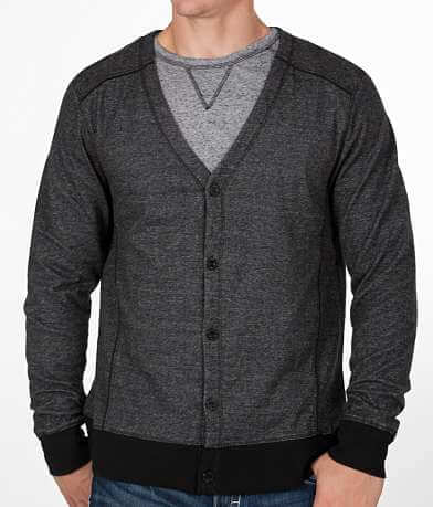 Buckle Black Cardigan Sweater