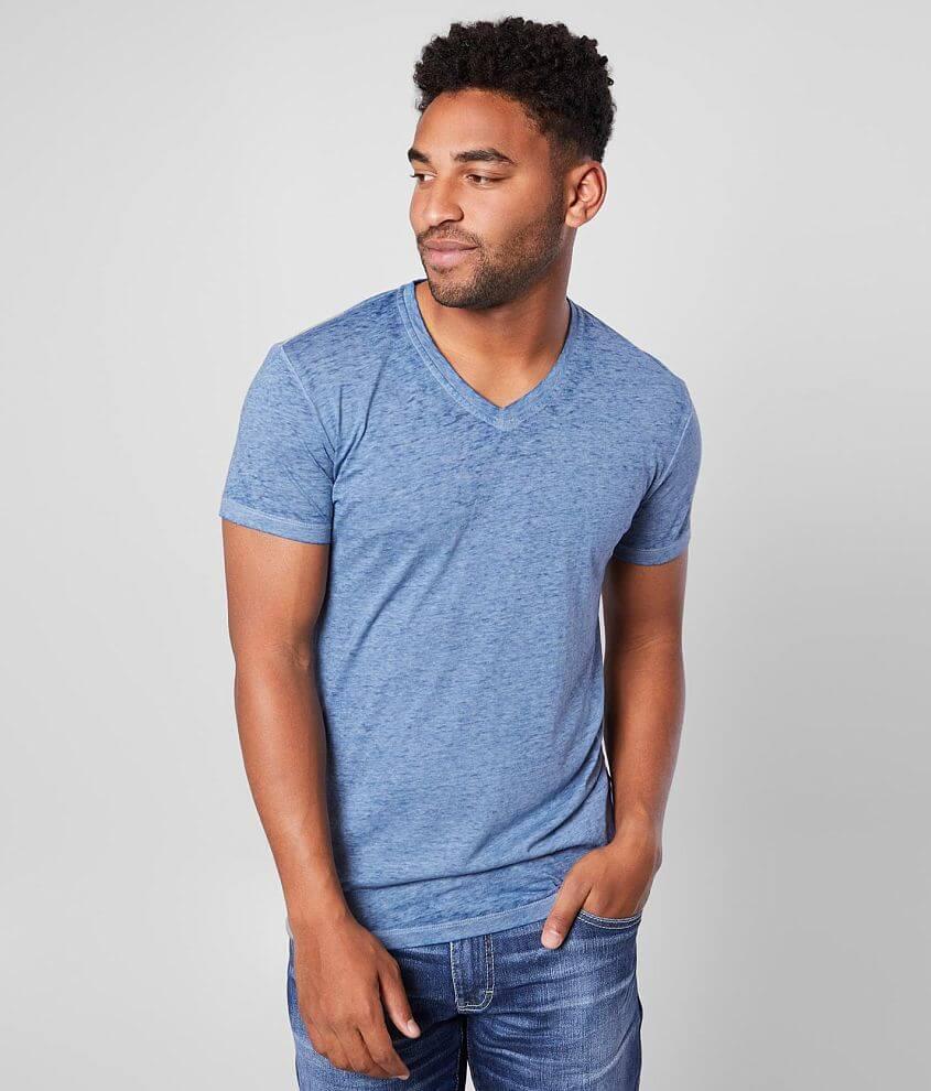 Buckle Black Burnout V-Neck T-Shirt front view