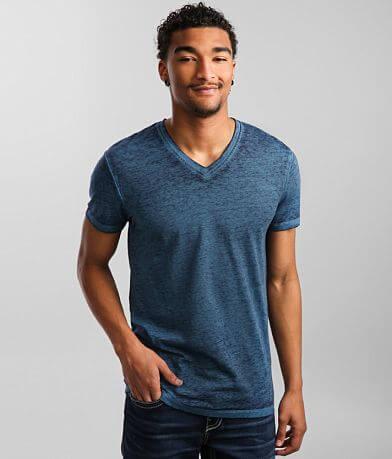 Buckle Black Burnout V-Neck T-Shirt