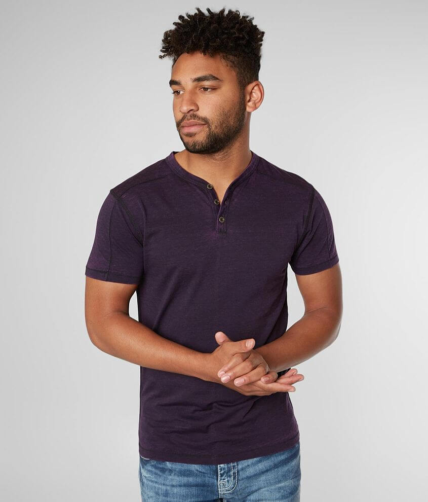 Buckle Black Untouched Henley front view