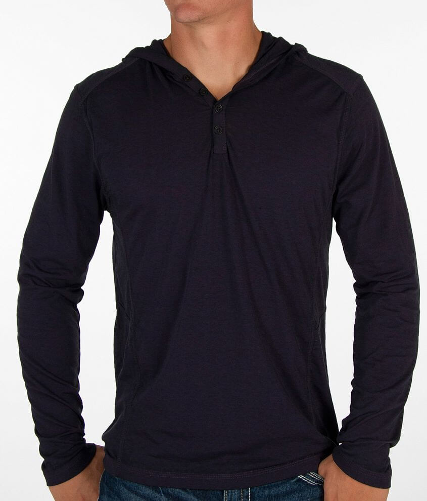 Buckle Black Henley front view