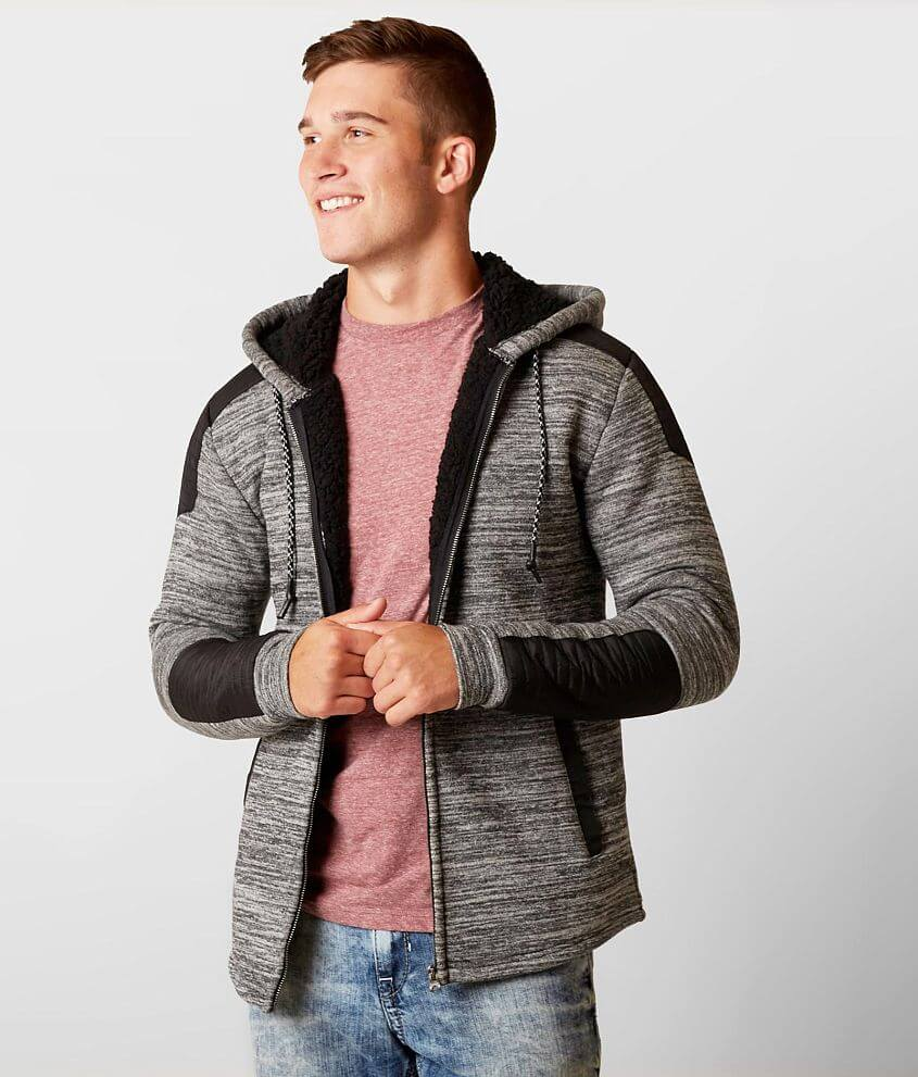 Buckle Black Quilted Jacket front view