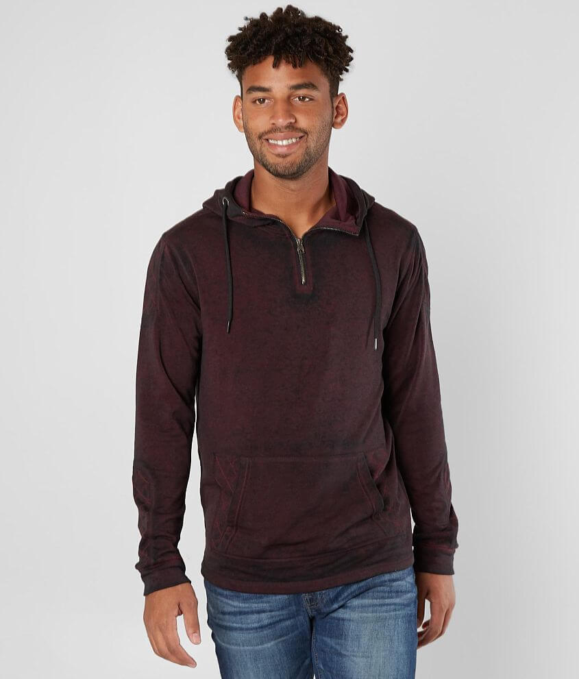 Buckle Black Quilted Sweatshirt front view