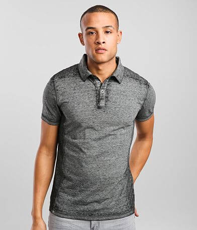 Buckle Black Washed Burnout Polo