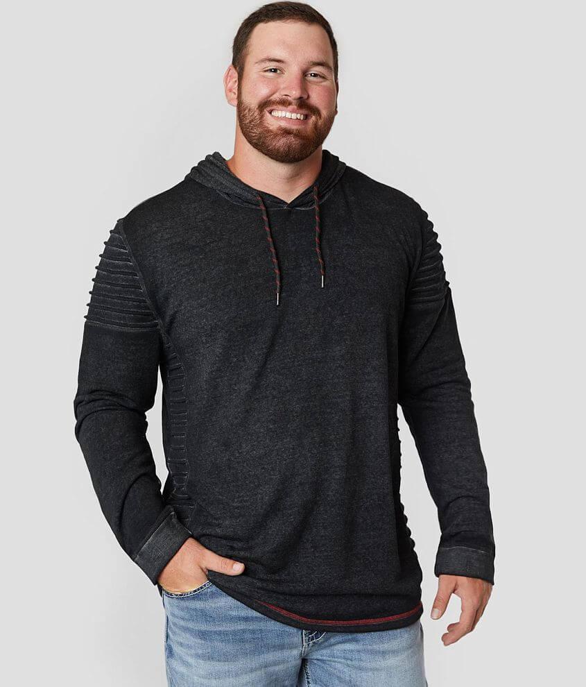 Buckle Black Burnout Sweatshirt - Big & Tall front view