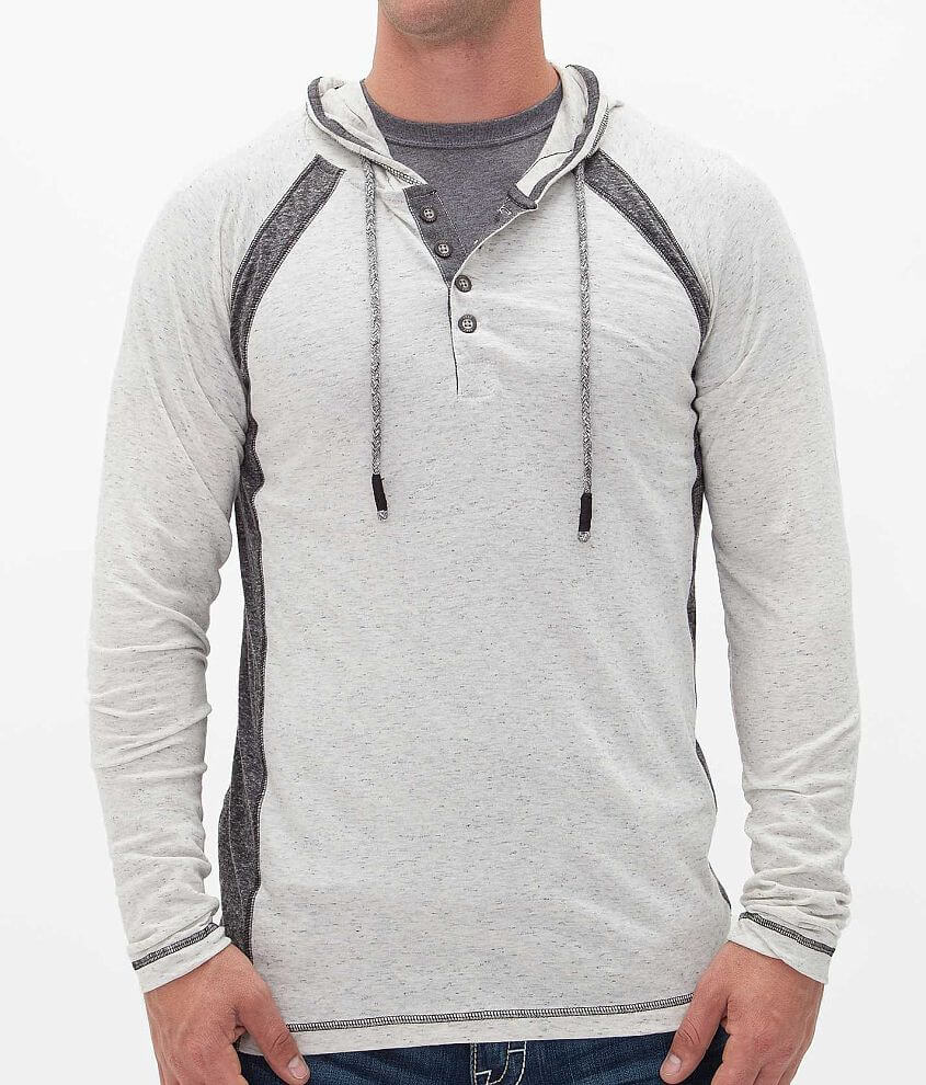 BKE Vintage Reilly Henley Hoodie front view