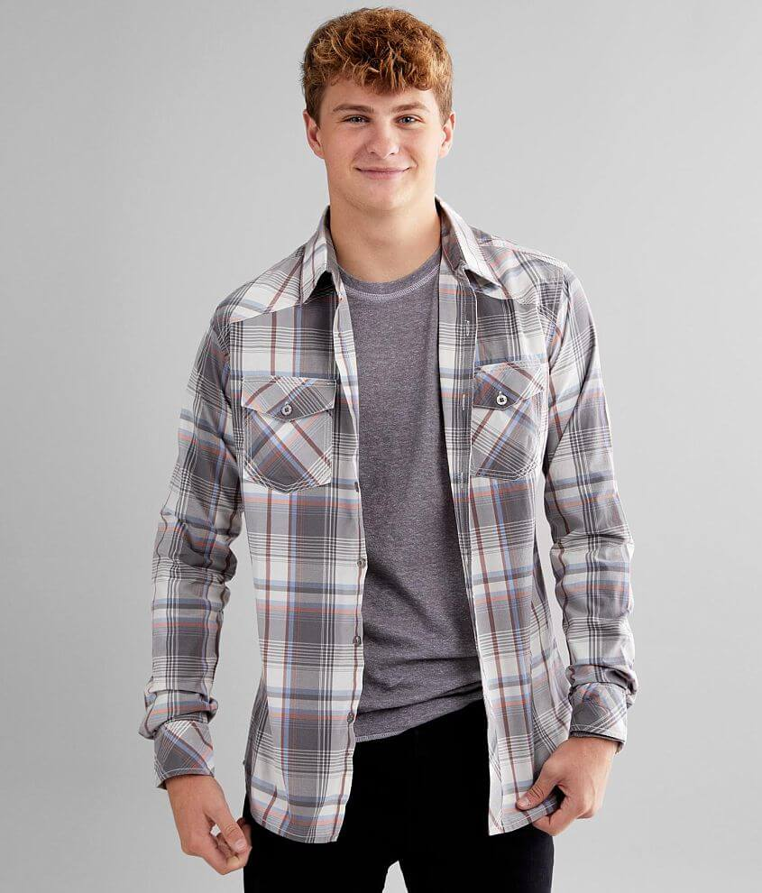 Reclaim Plaid Tailored Shirt front view