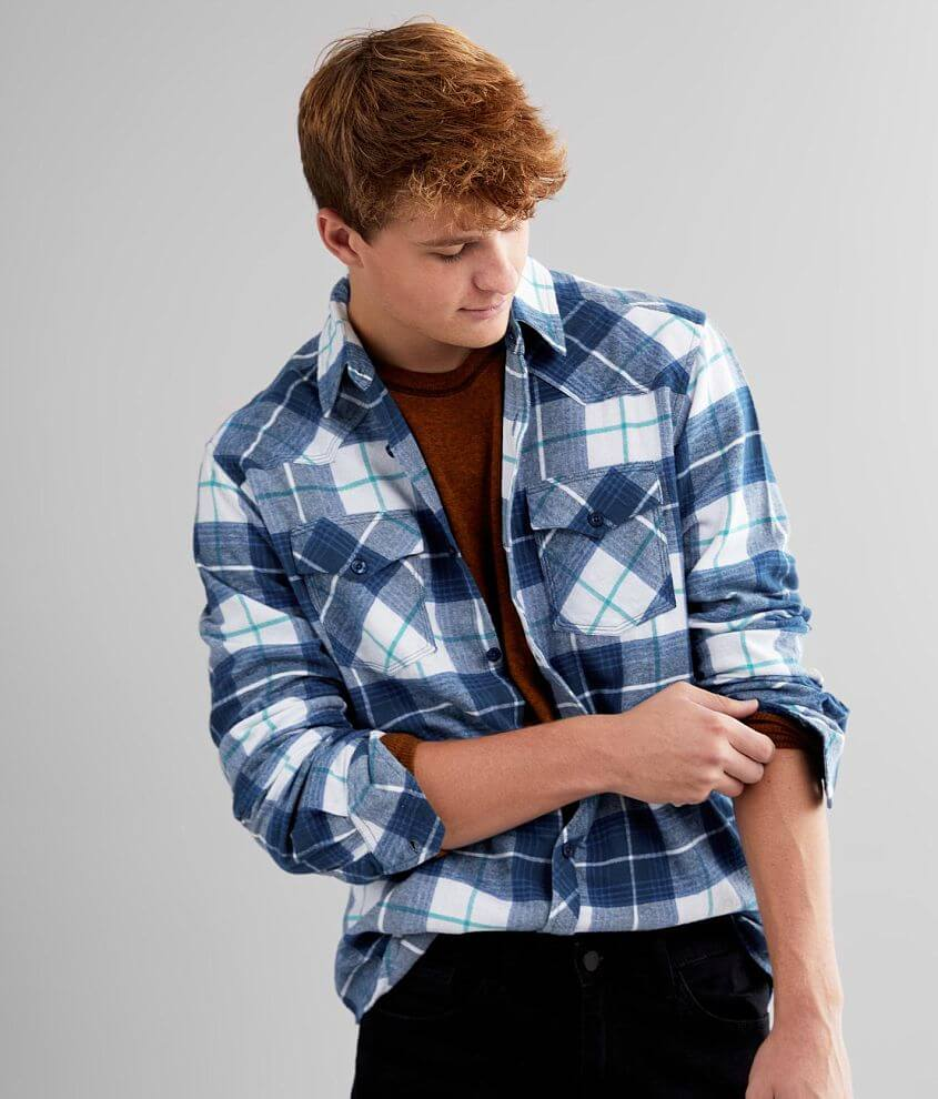 Reclaim Flannel Athletic Shirt front view
