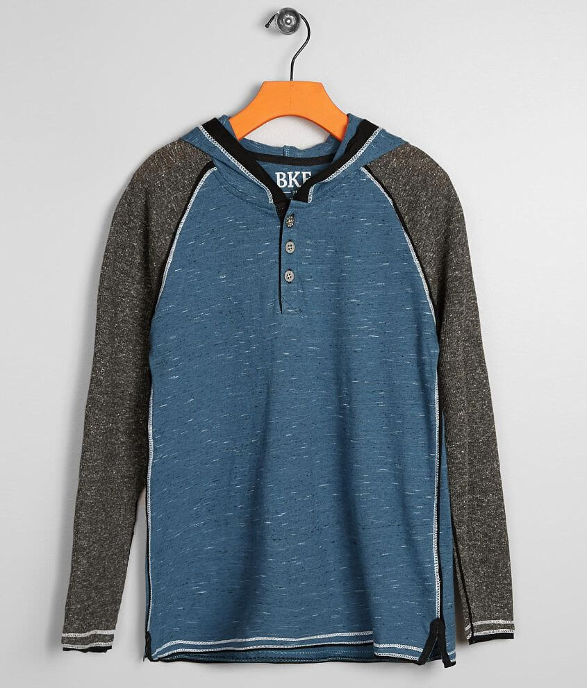 Boys - BKE Jersey Henley Hoodie front view