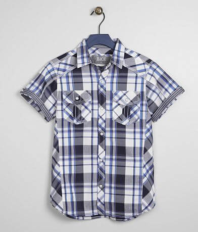 Boys - BKE Plaid Stretch Shirt