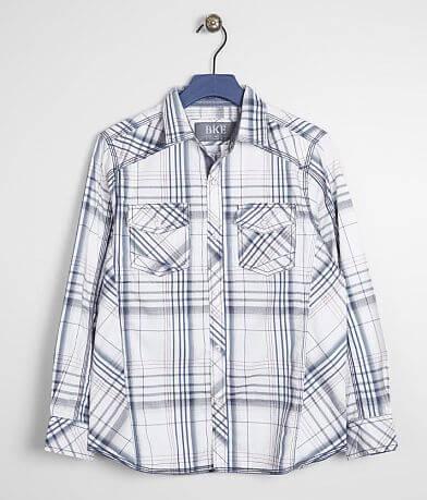 Boys - BKE Plaid Stretch Shirt