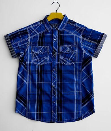 Boys - BKE Embroidered Plaid Shirt