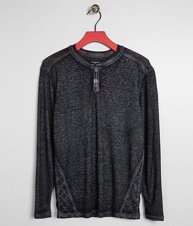 Boys - Buckle Black Crosshatch Thermal Henley