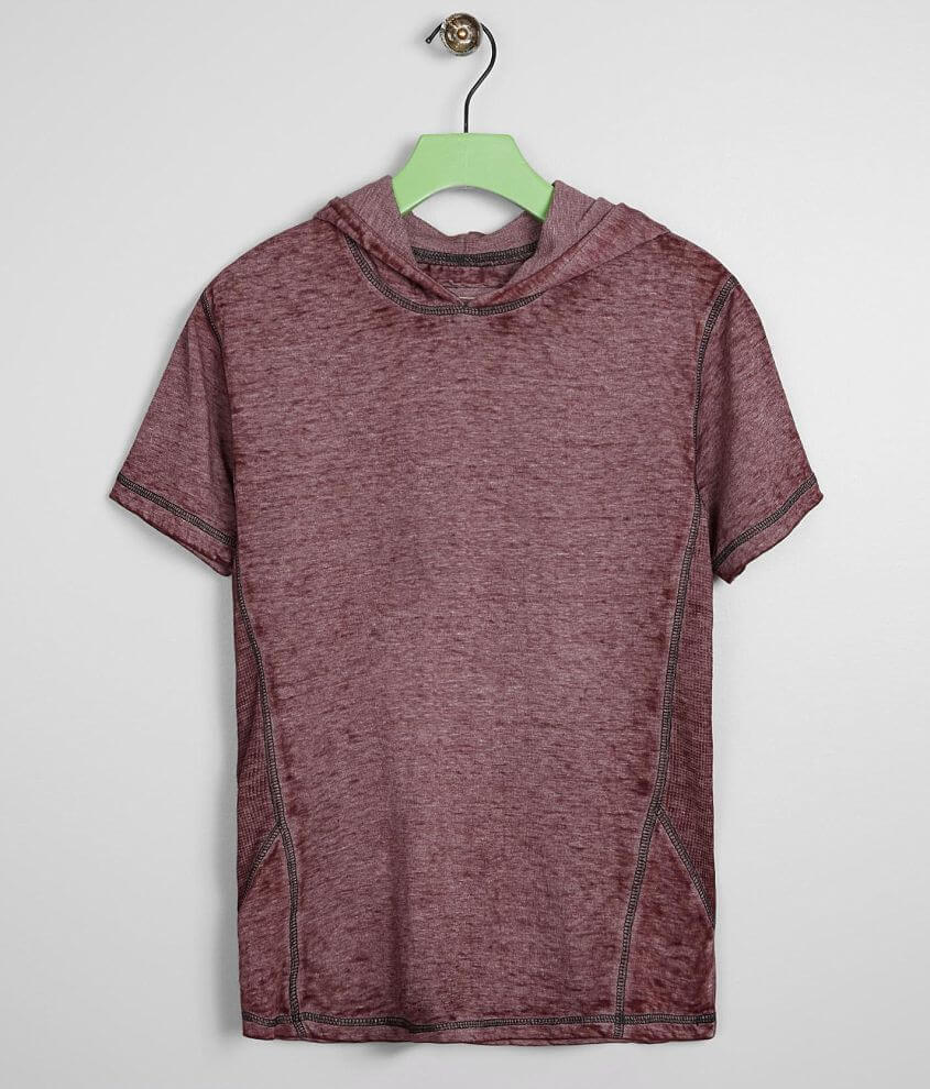 Boys - Buckle Black Burnout Hooded T-Shirt