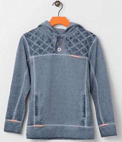Boys - Buckle Black Two Times Henley Sweatshirt
