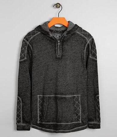 Boys - Buckle Black Quilted Sweatshirt