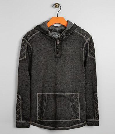 Boys - Buckle Black Quilted Sweatshirt