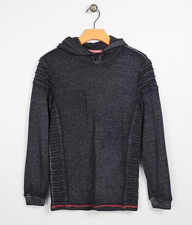 Boys - Buckle Black Washed Burnout Hoodie