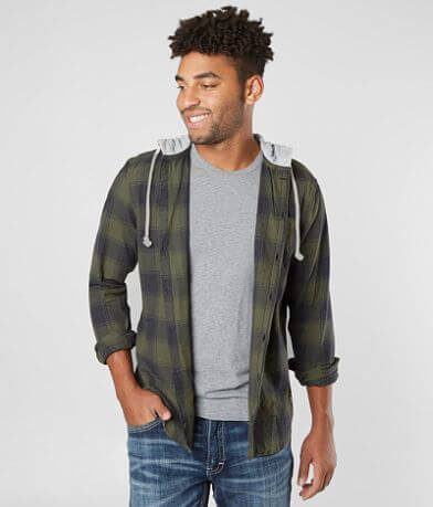 Departwest Plaid Hooded Shirt