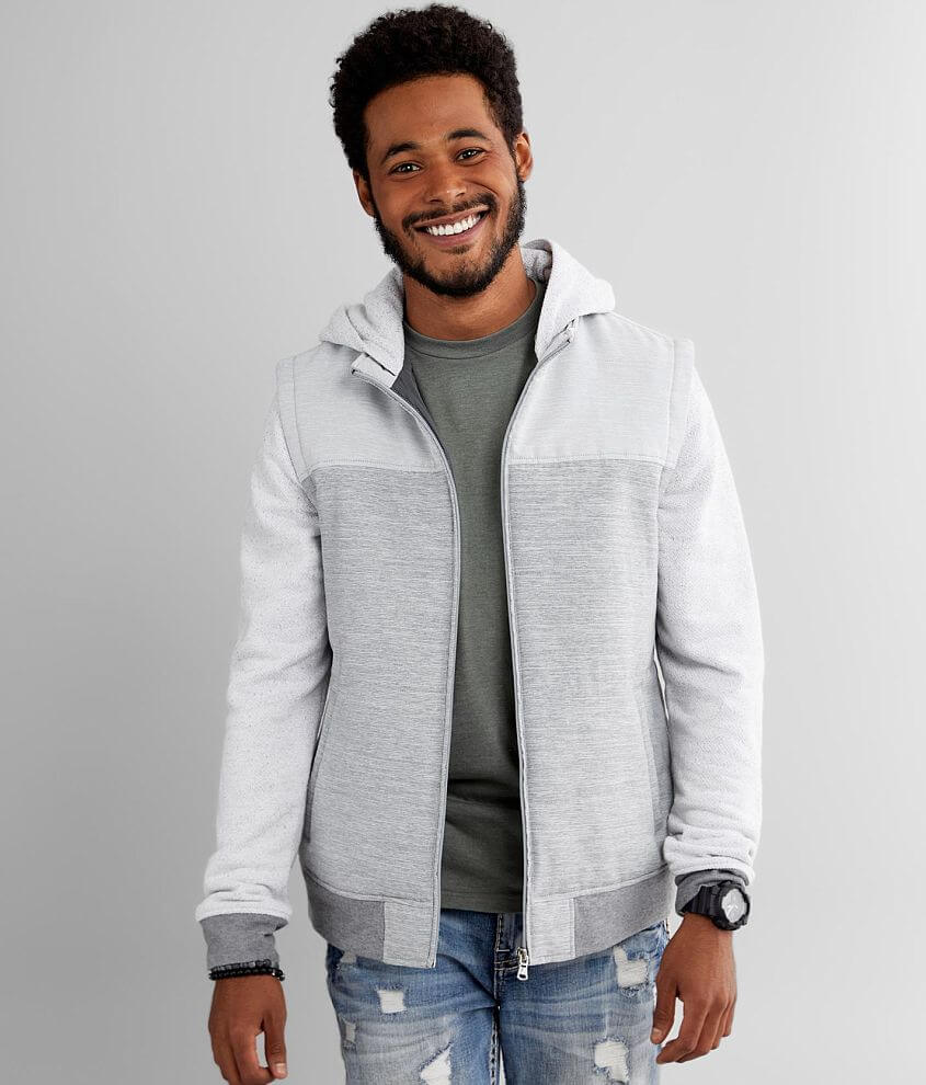 Departwest Knit Sleeved Puffer Jacket front view