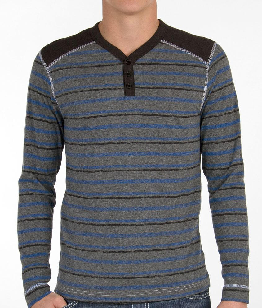 BKE Striped Henley front view